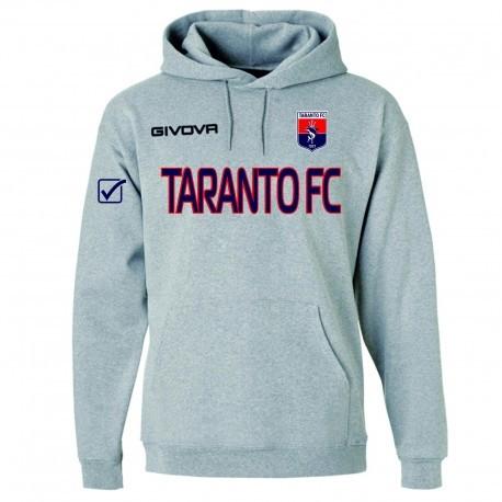 FELPA CON CAPPUCCIO GRIGIA 2019/2020 TARANTO FC 19