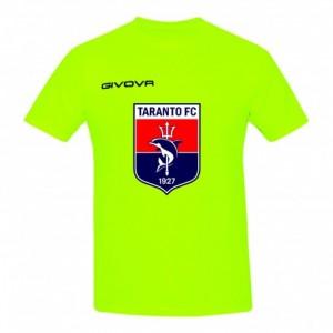 T-SHIRT 3D LOGO GIALLO FLUO 2019/2020 TARANTO FC 1