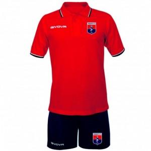 KIT POLO-BERMUDA ROSSOBLU 2019/2020 TARANTO FC 19
